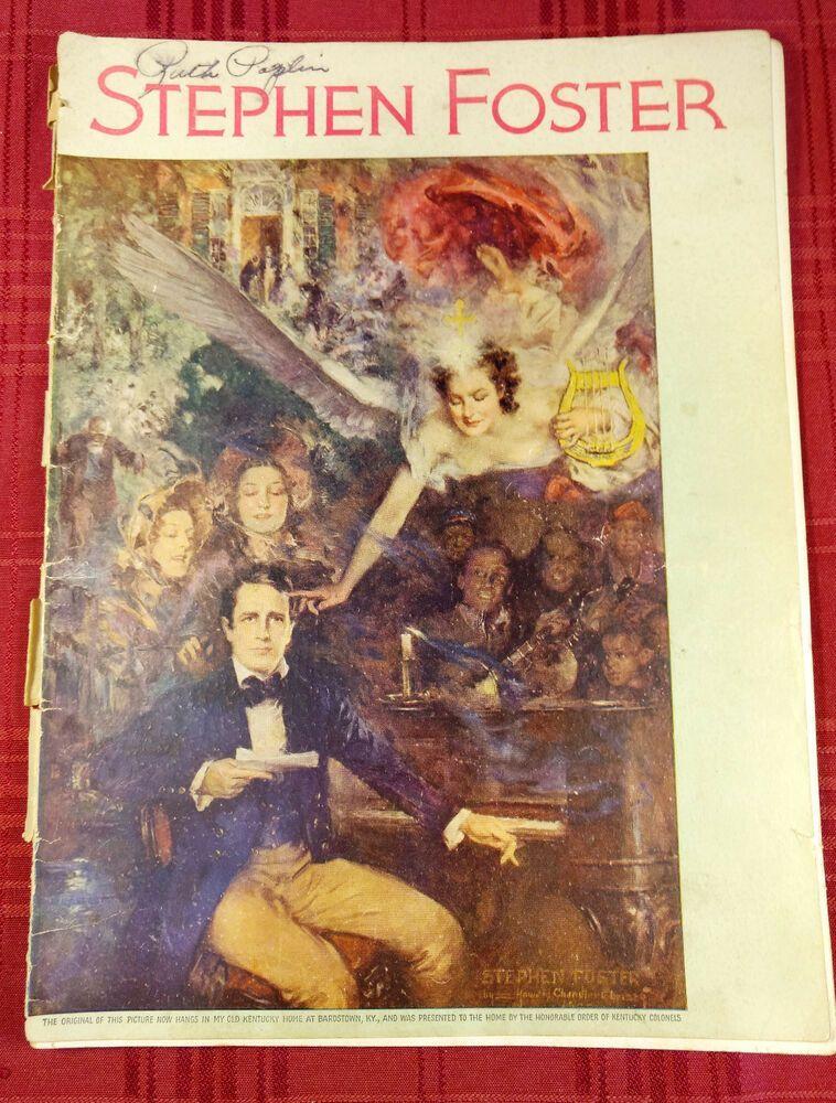 Stephen Foster Fifteen Favorite Songs Vintage Sheet Music