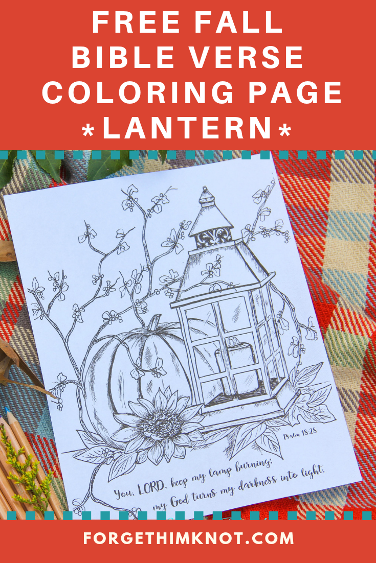 Free fall bible verse coloring pages lantern and pumpkins remind us