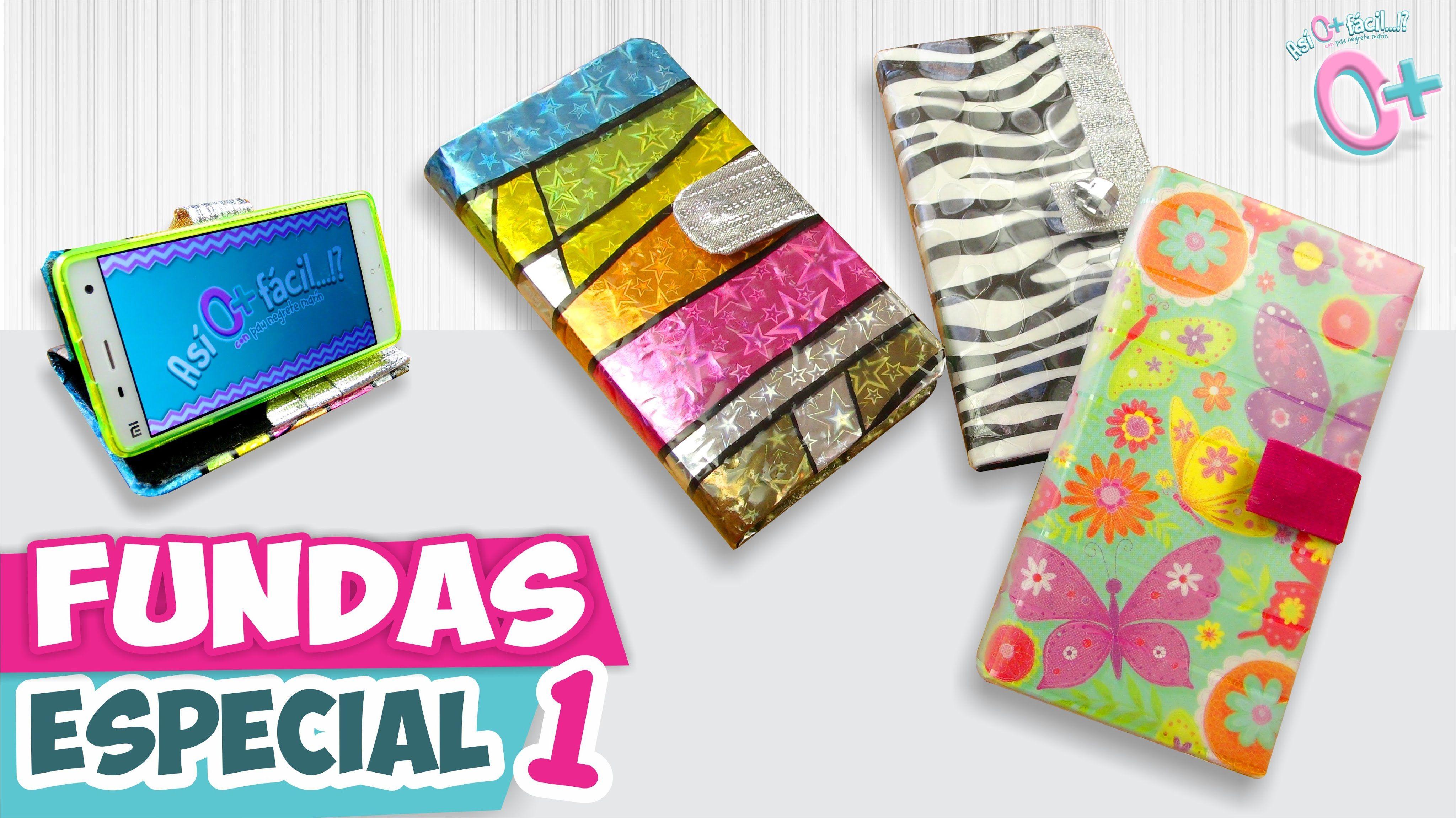 DIY✓ FUNDAS CASERAS para Celular - Papel y Hule (Especial 1) ☆Así o más  fácil☆ | Craft videos, Diy paper, Craft tutorials