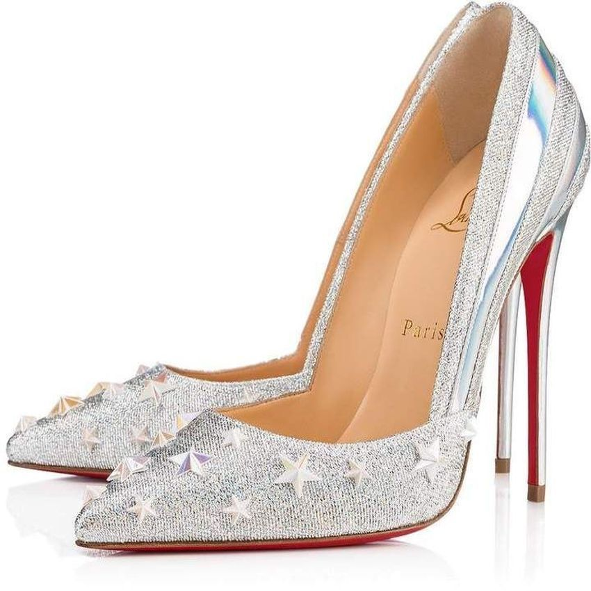 Pin By Maria Angeles Mur On Christian Louboutin Silver Louis Vuitton Shoes Heels Heels Christian Louboutin