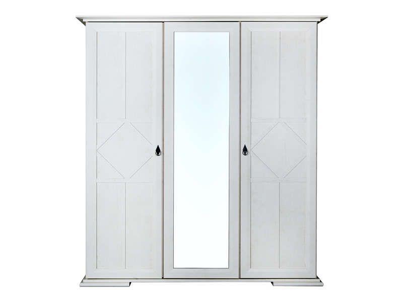 soldes armoire 3 portes romy coloris chne blanchi prix soldes armoire conforama 40750 ttc au lieu de 907