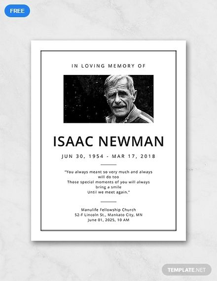 Free Simple Funeral Program Template Word Doc Psd Indesign Apple Mac Pages Publisher Illustrator Funeral Program Template Funeral Program Template Free Funeral Programs