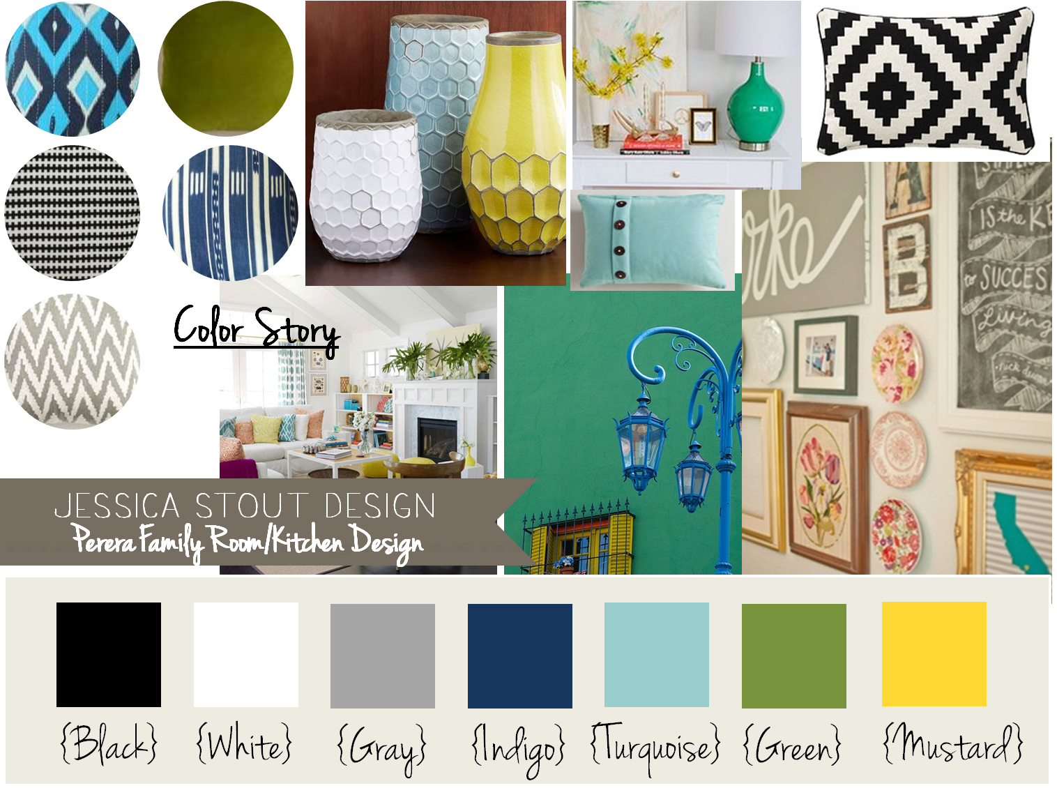 I like the navy turquoise yellow gray and green happy for Turquoise color scheme living room