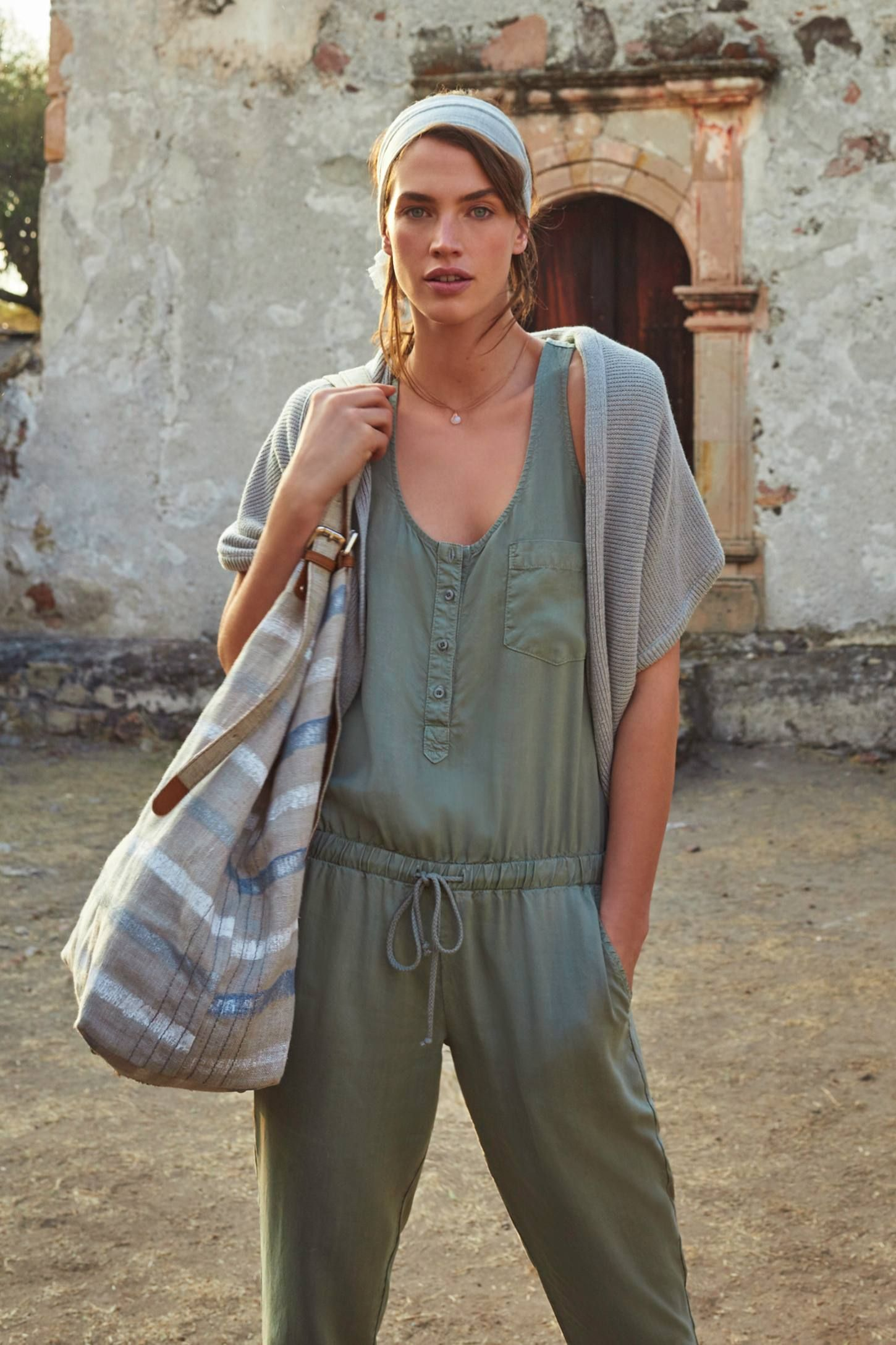 896e0e76e01 Drawstring Jumpsuit - anthropologie.com