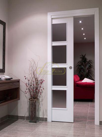 Venta de puertas correderas en maderas y lacadas blancas - Puertas correderas ocultas ...