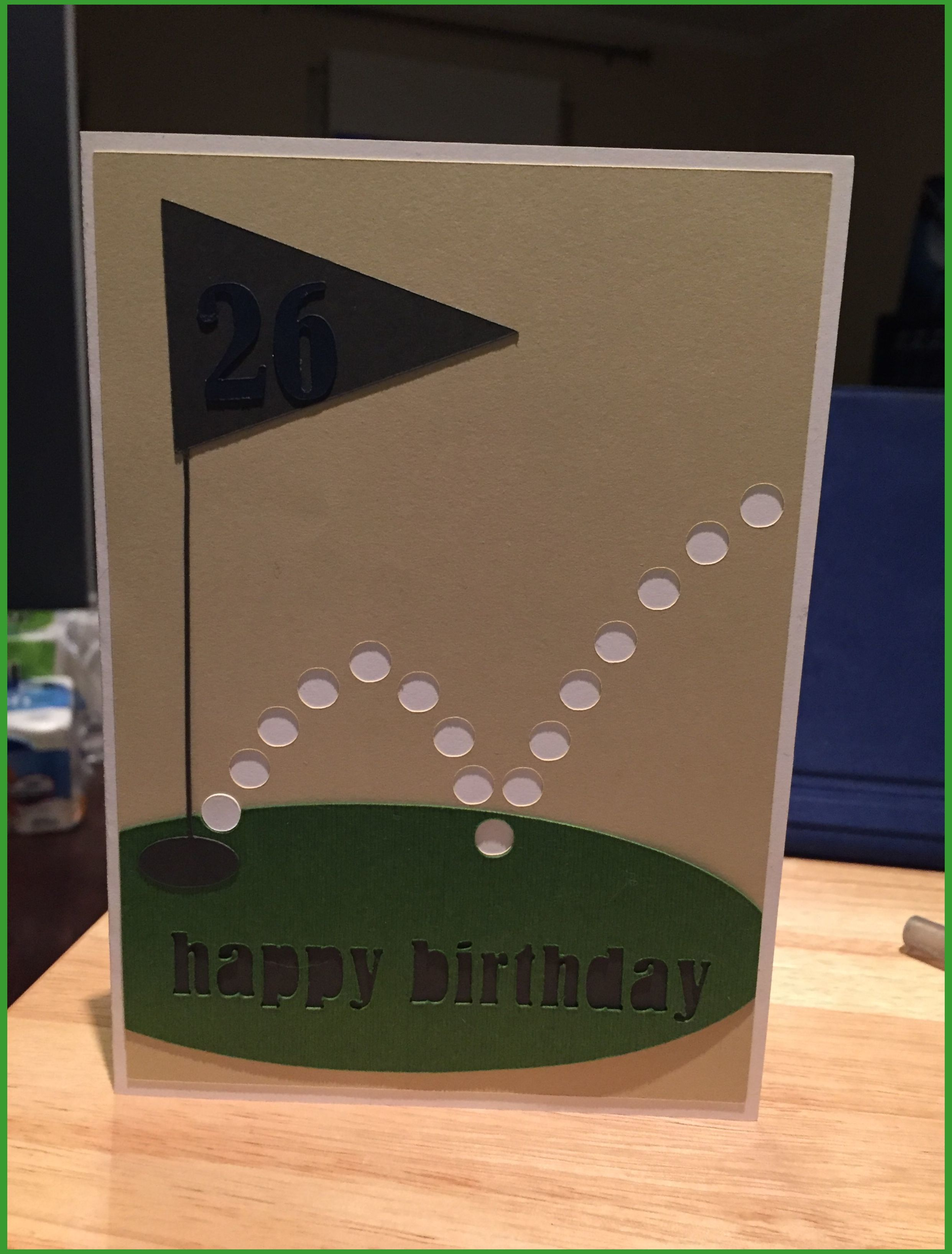 Golf Birthday Card Diy Golf Training Diy Golf Training Swings Golf School Budget Frie Homemade Birthday Cards Golf Birthday Cards Birthday Cards For Men