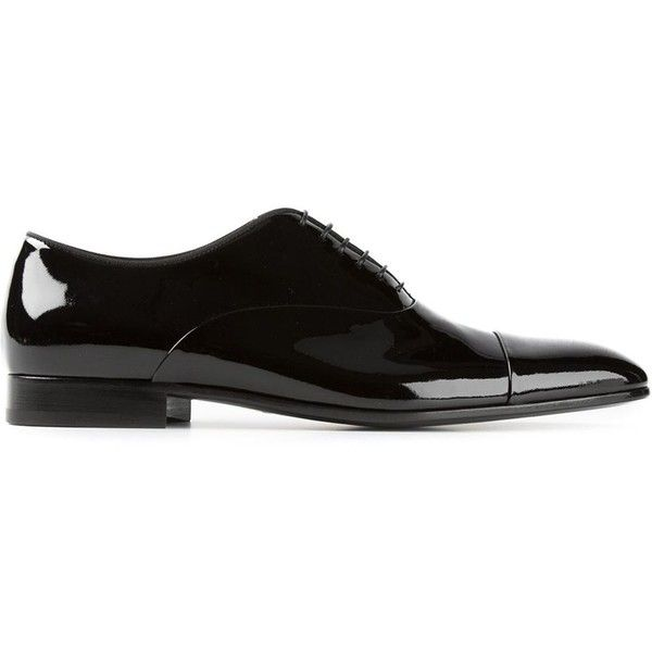 GIORGIO ARMANI classic oxford shoes (1.800 BRL) ❤ liked on Polyvore featuring men's fashion, men's shoes, men's oxfords, mens black oxford shoes, mens black shoes, giorgio armani mens shoes, mens black lace up shoes and mens oxford shoes