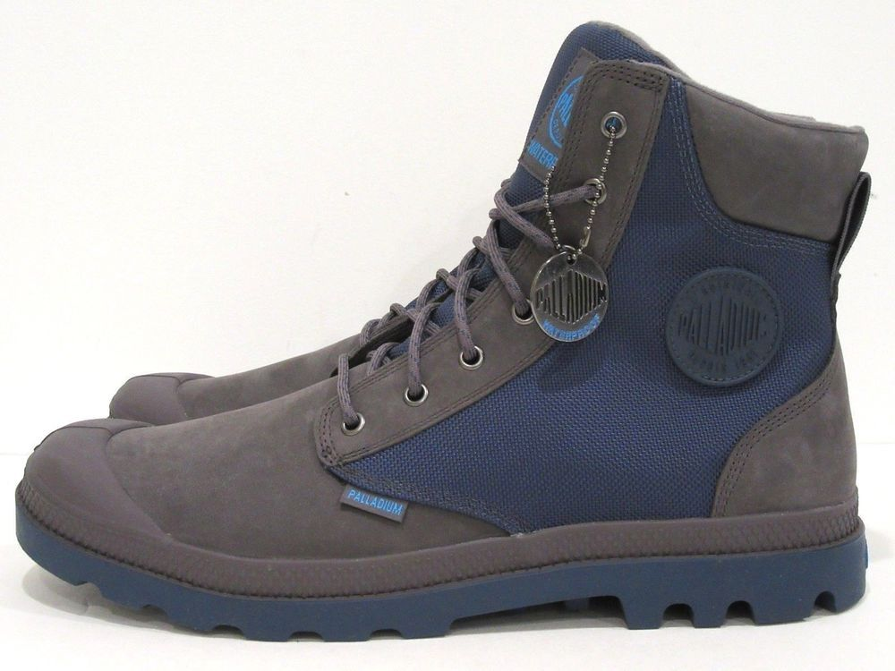 5f71c9d16c2 Palladium Men's Pampa Sport Cuff Wpn Boot Rabbit/Dark Denim 13 D(M ...