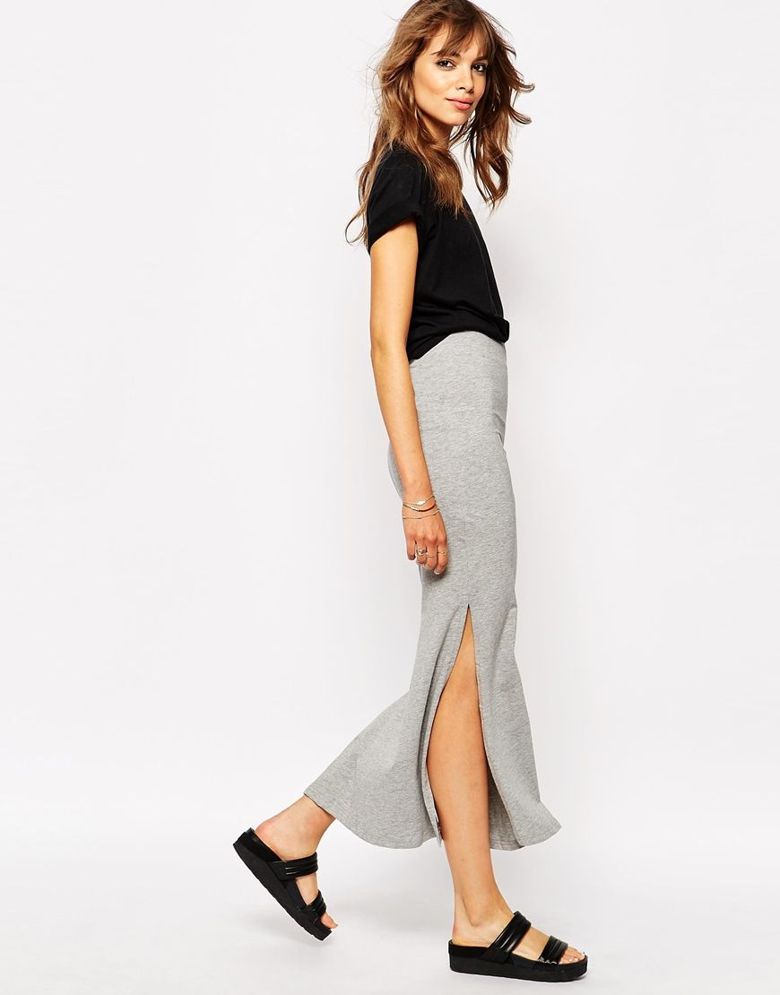 Image 1 of Vila Jersey Maxi Skirt With Side Split | C L O T H E S ...