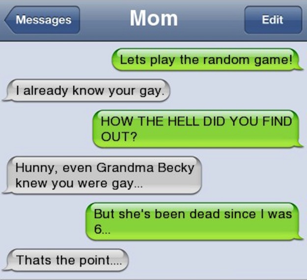 And this mom, who was totally in on it with Grandma Becky: