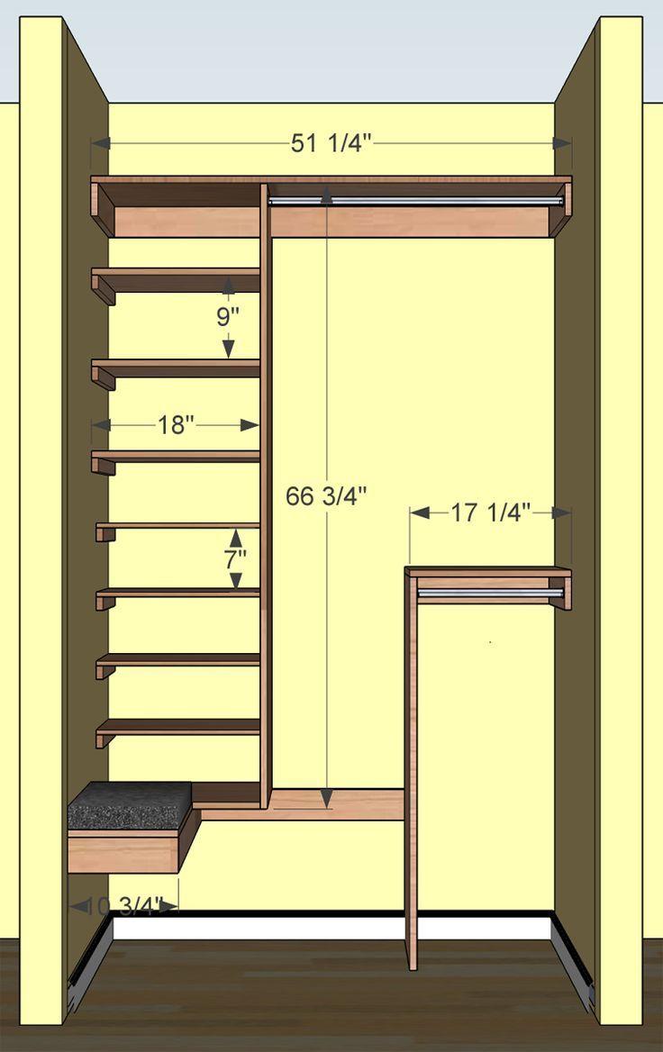 narrow deep coat closet - Google Search with closet stripe ...