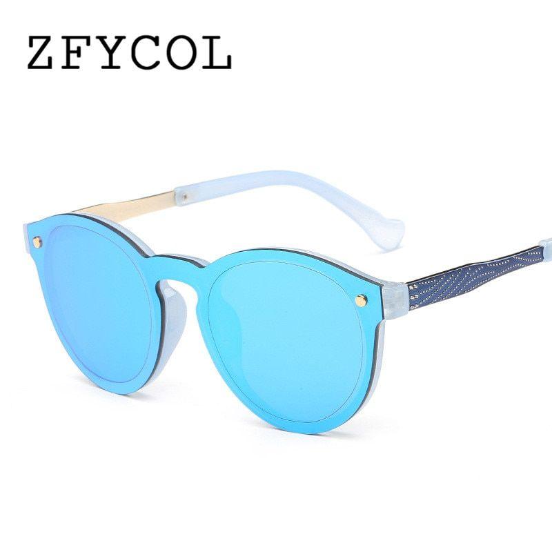 a86eeac70639f ZFYCOL 2017 New Fashion Rimless Vintage Round Mirror Sunglasses Women  Luxury Brand Original Design Sun Glasses For Men women