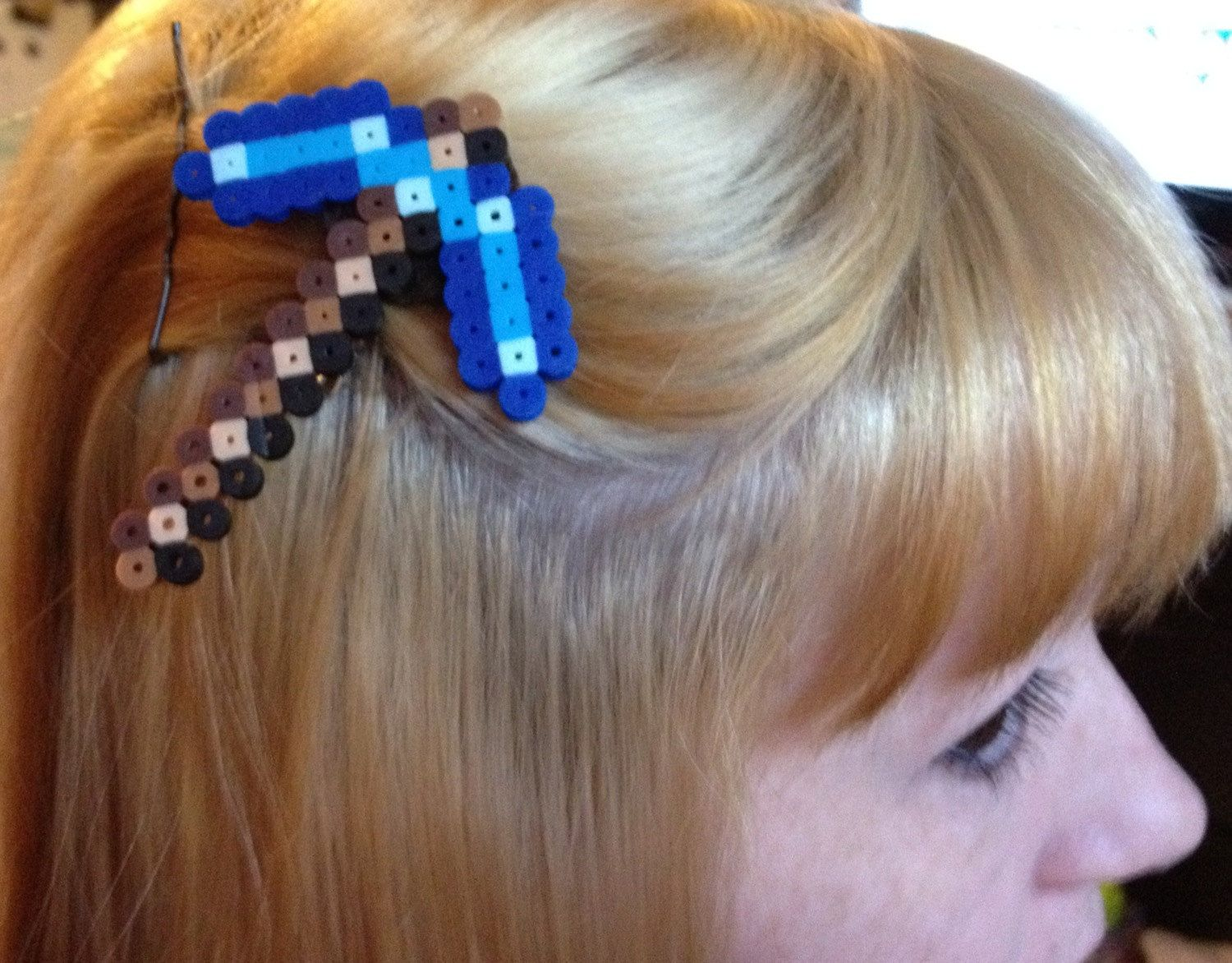 Diamond Pickaxe HAIR CLIP. $4.00, via Etsy.