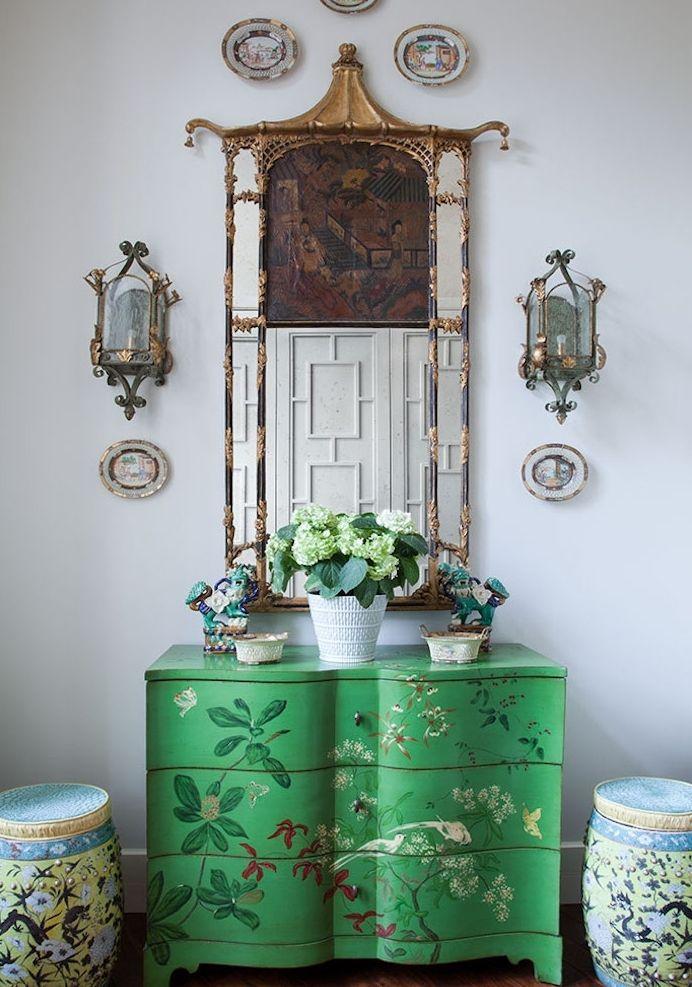 ▷ 1001 + idées comment peindre un meuble ancien Chinoiserie - comment repeindre un meuble vernis