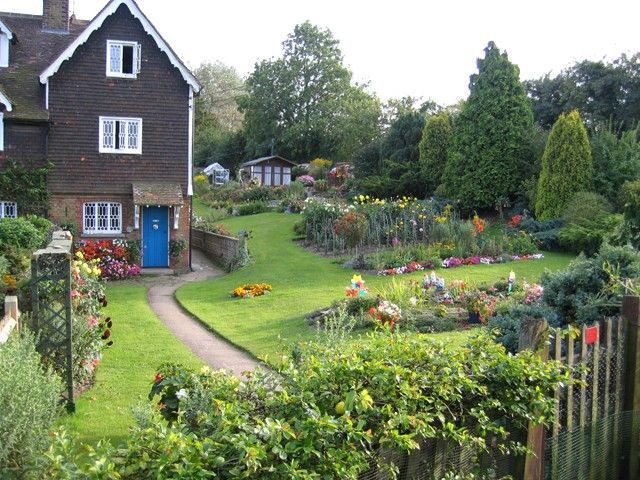 Love The Blue Door And Gorgeous Landscaping Country Gardening English Country Gardens Country Cottage Garden