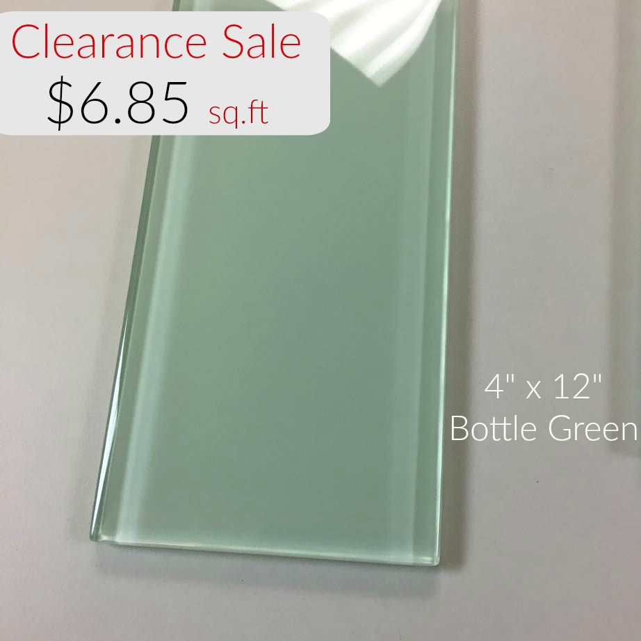 4 X 12 Glass Subway Tile Bottle Green 685 Per Square Foot