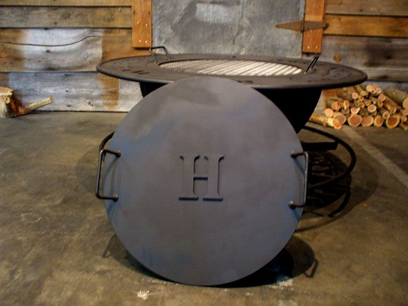 Metal Fire Pit Covers Create Your Own Personalized Fire Pit With