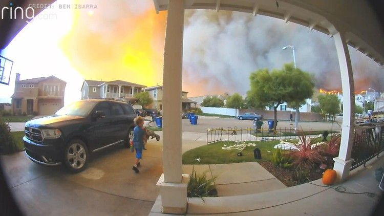 Watch Video Captures Family Fleeing From Tick Fire In California California Wildfires Wine Country California Wine Country