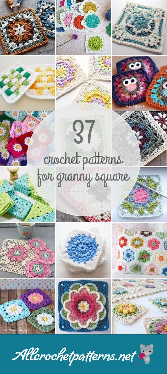 Crochet Patterns For Granny Square | Linda Guinn | Pinterest ...