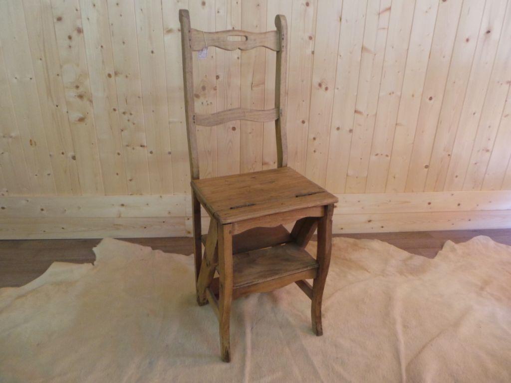 Chaise Escabeau Ancienne Objet Ancien Escabeau Chaise