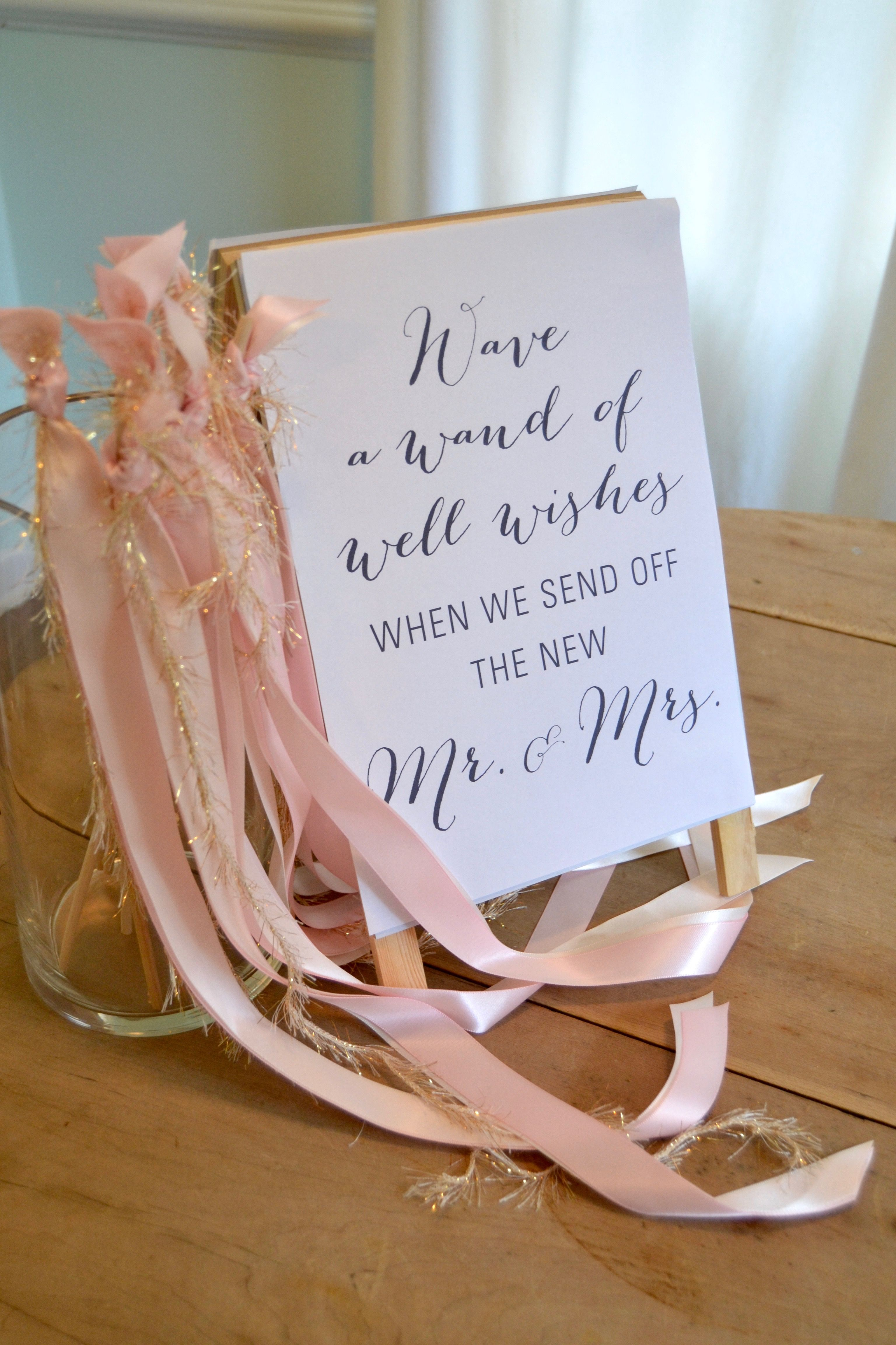 Wedding Wand Sendoff Sign Suite Like Tee on Etsy (With