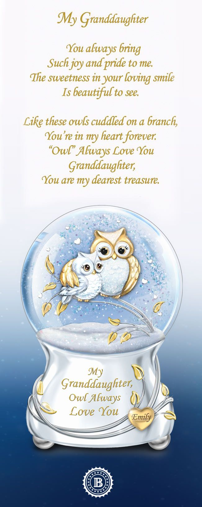 Cuddle For You Cuddle Box With Glass Teddy Gift For Granddaughter Inscription