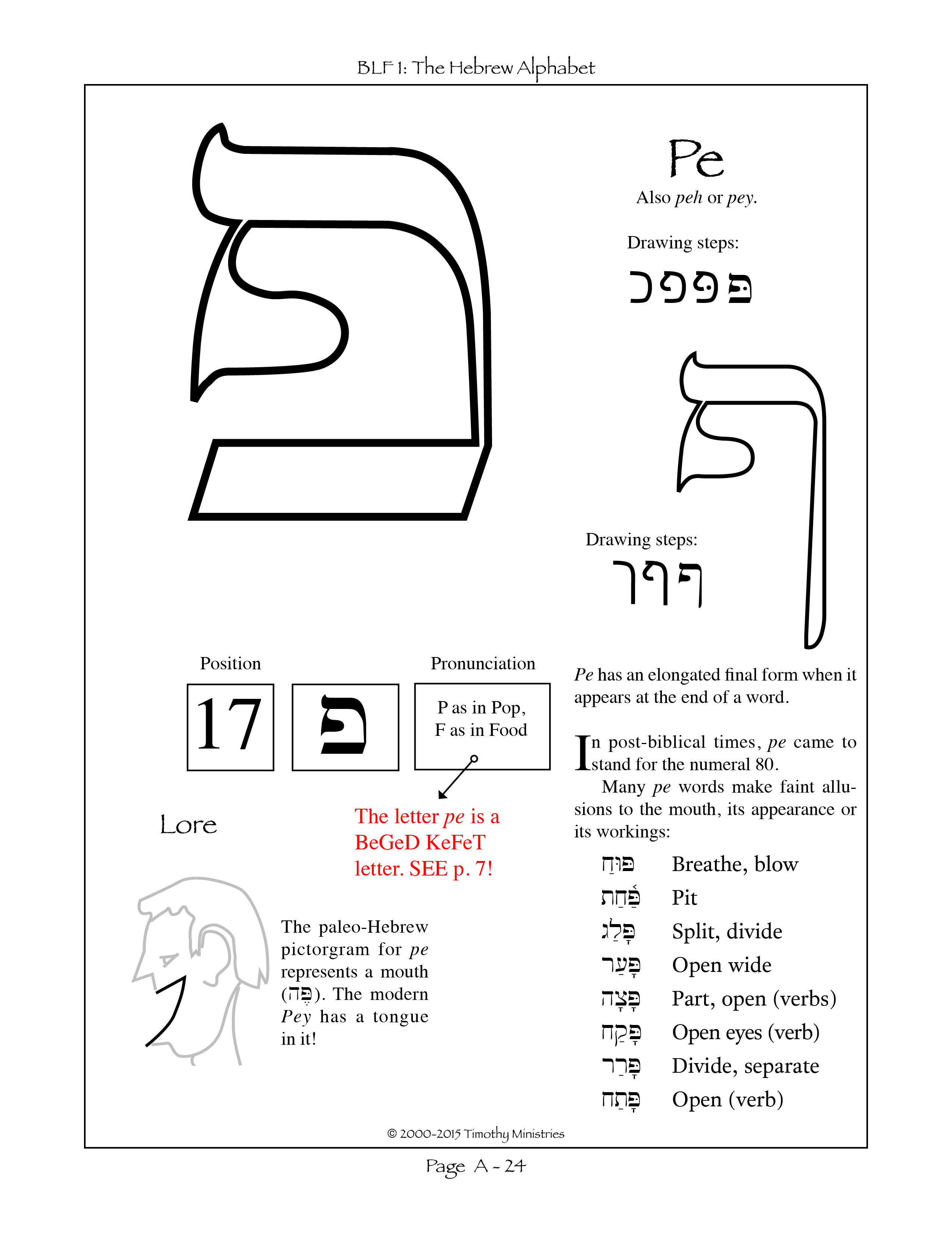Predownload: The Seventeenth Letter Of The Hebrew Alphabet Learn Hebrew Hebrew Lessons Learn Hebrew Alphabet [ 3301 x 2550 Pixel ]