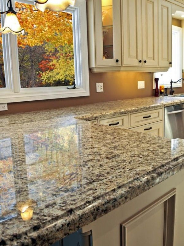 Kitchen,Elegant Kitchen Interior Design Ideas With DIY Faux Granite  Countertop From Painted Concrete And