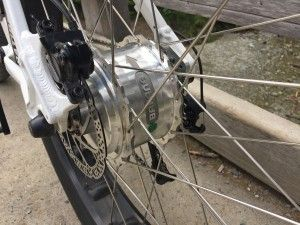 """Driving the bike is a wide edition 350 watt motor from Bafang."" #fatbike #ebike"