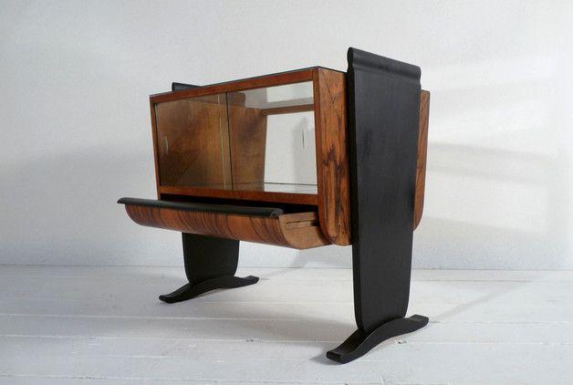 Vintage Schranke Barschrank Art Deco Halabala Bar Vitrine Ein Designerstuck Art Deco Mobel Barschrank Art Deco