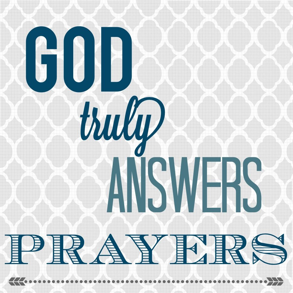 God Answers Prayer He Just Did Thank You Lord I Know Trust