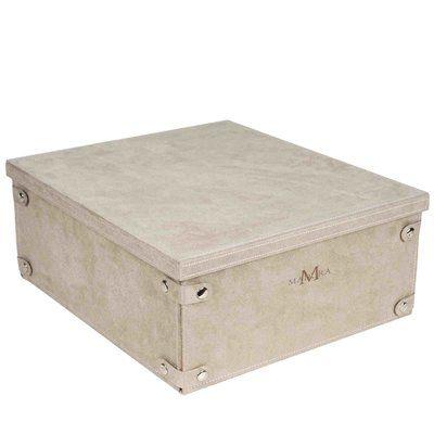 Madura Montana Fabric Box Color Off White Fabric Storage Bins