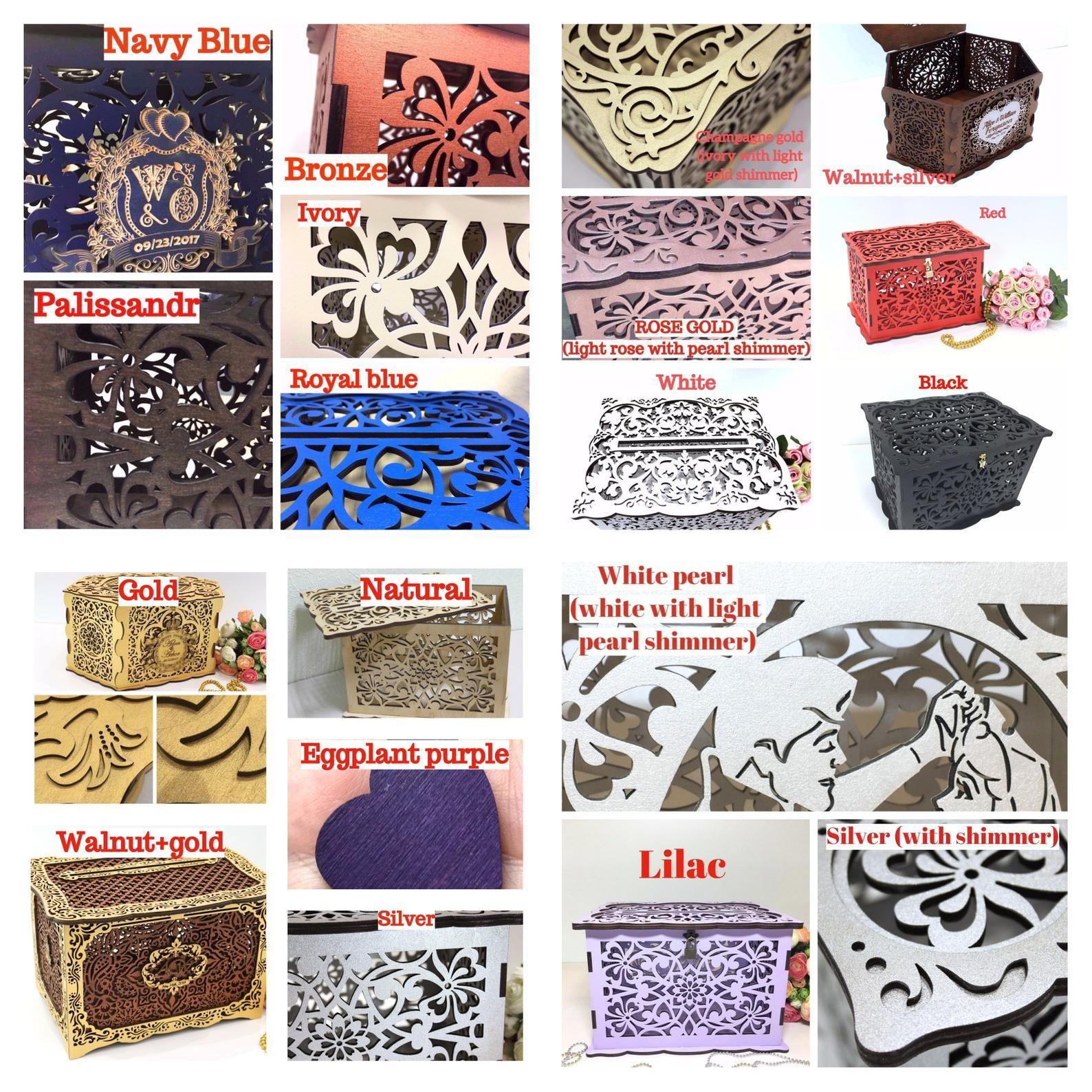 Wedding Card Box With Lock White Wedding Money Box With