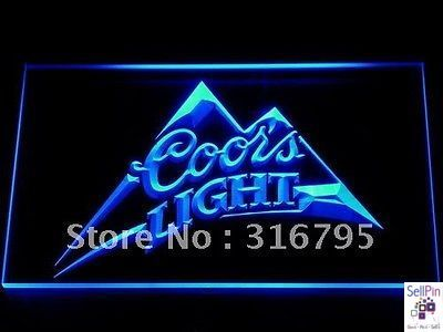 Coors Light Beer Neon Sign Man Cave Led Neon Signs Neon Light Signs Coors Light