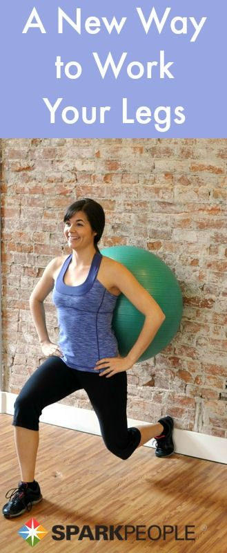 You've never tried #lunges like this before! Love this fun new way to work the legs! | via @SparkPeople #workout #fitness #legworkout #exercise