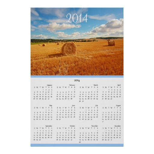 Beautiful nature personalized calendar 2014 poster