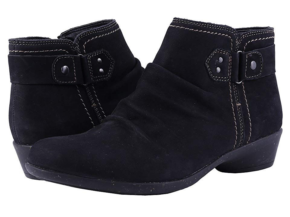 a6338315b Rockport Cobb Hill Collection Cobb Hill Nicole (Black) Women s Zip Boots.  Navigate the season in style with the Nicole ankle boot.
