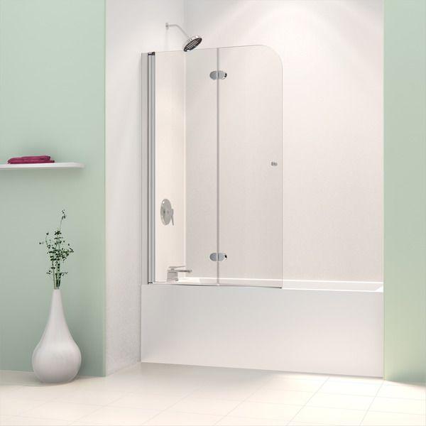 Dreamline Aquafold 36 Inch Frameless Hinged Tub Door