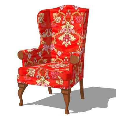 Small Wingback Chair Home Design Ideas