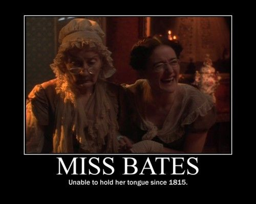 "PORK mother! Definitely my favorite ""annoying"" character in Austen's novels."