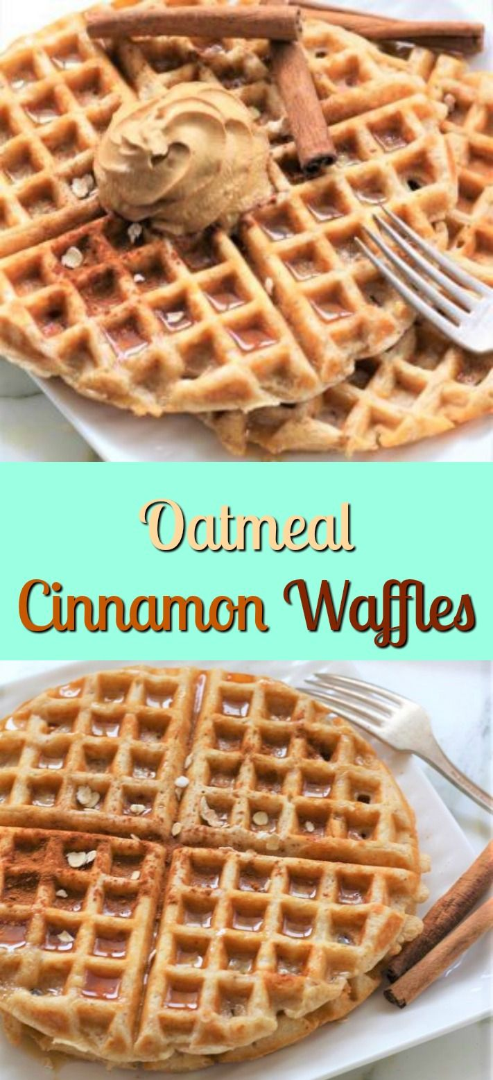 Oatmeal Cinnamon Waffles are the perfect way to start your morning breakfast. These waffles are a healthy alternative to cold cereal! This Oatmeal Cinnamon Waffles recipe makes waffles that are very filling. Sometimes on Saturday mornings, I just cannot wait to get out of bed and make oatmeal cinnamon waffles. We make our own maple syrup or even buttermilk syrup. The buttermilk syrup tastes like caramel, and the oatmeal cinnamon waffles and the buttermilk syrup go together 100%!
