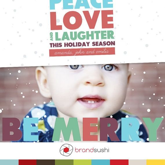 Be Merry  Photoshop Card Template for Photographers  by brandsushi, $8.00