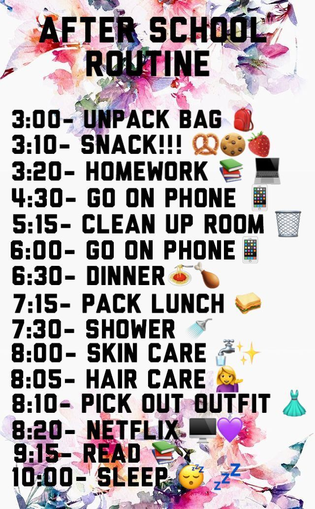 Pin by Ki🤍 on Tips in 2020 After school routine, Life