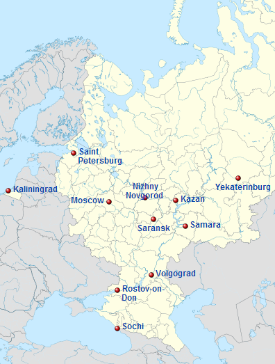 World Cup 2018 in Russia. 11 host cities in Russia | Russia ...