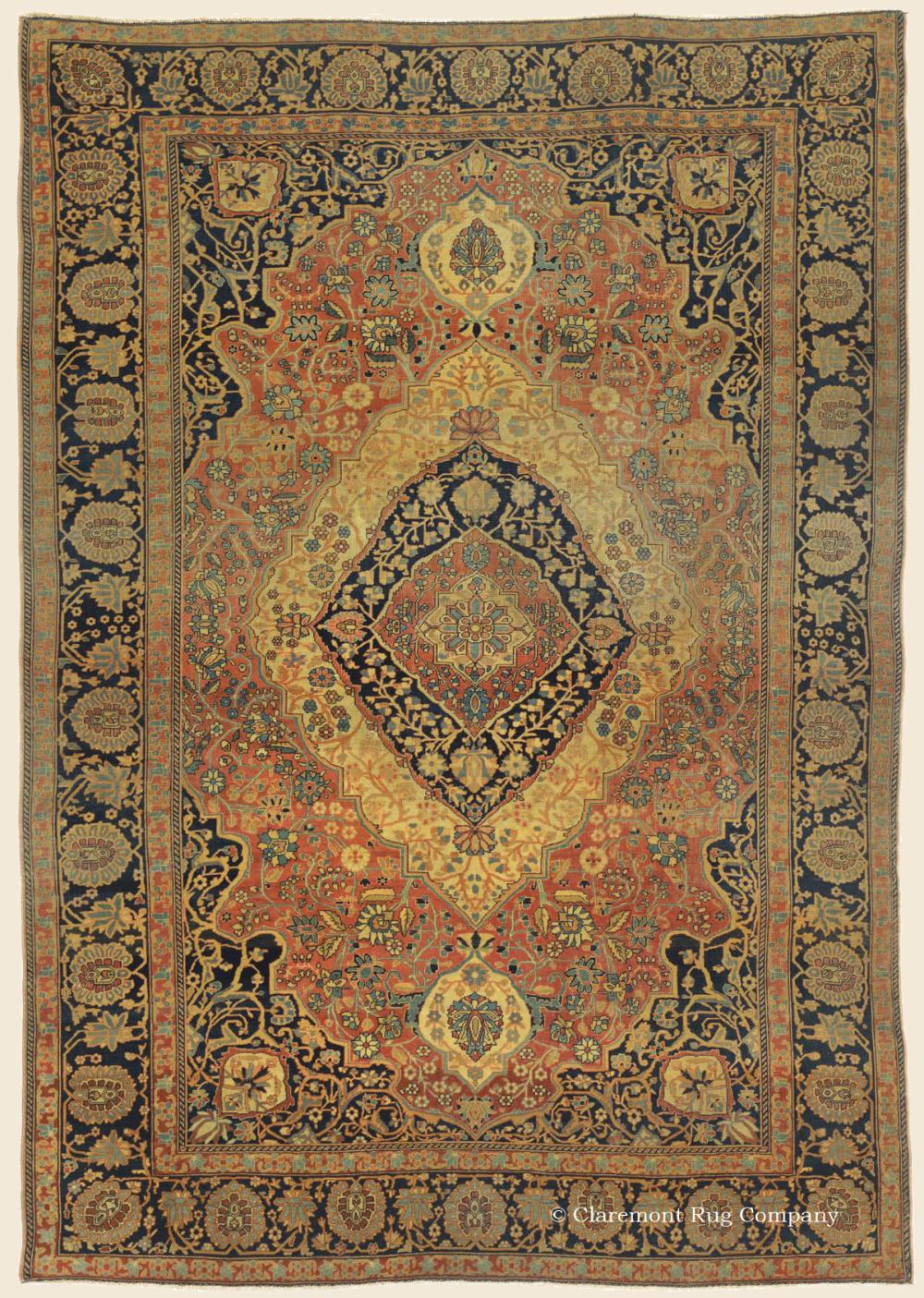 World Class Motasham Kashan Antique Persian Carpet Antique Rug 4 8 X 6 9 Circa 1850 In 2020 Antique Rugs Persian Carpet Claremont Rug Company Persian Carpet