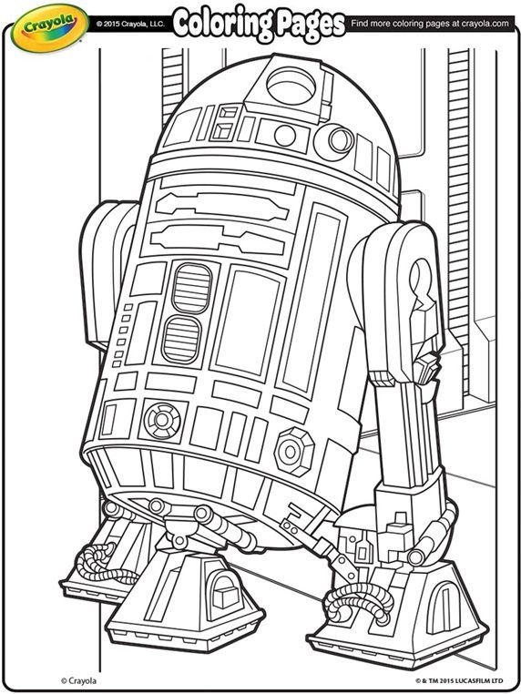 Star Wars R2D2 on crayola.com | [Otros] Colorear | Pinterest ...