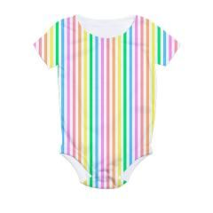 Striped Pastels All Over Print Infant Bodysuit