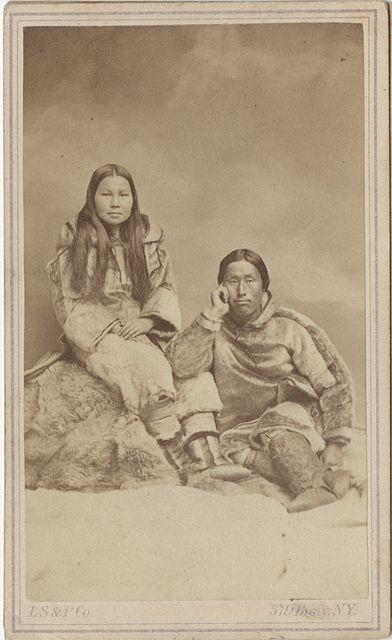 Carte De Visite Of Eskimo Couple By Photo History Via Flickr