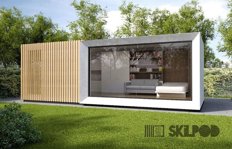 Afbeeldingsresultaat voor modulaire units kantoor tuin Prefab - exemple devis construction maison