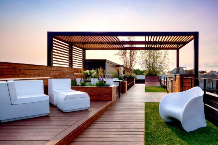 ▷ 1001 + ideas de decoración de terrazas con encanto Pergolas